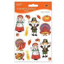thanksgiving stickers pilgrim turkey stickers 4 shs pkg childrens