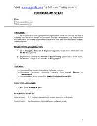 Curriculum Vitae Format Pdf Simple Resume Format For Freshers Pdf