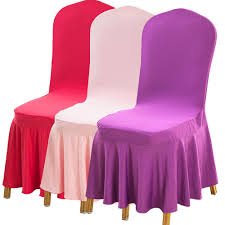 cheap chair cover high quality pleated spandex lycra chair cover skirt party wedding