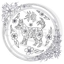 chinese zodiac animal rat colouring page u2013 red brush art u2013 shop