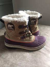 sorel s tivoli boots size 9 sorel tivoli boots twill boysenberry size 9 medium width excellent