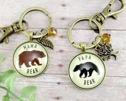 mama bear papa bear matching keychains baby shower gift ideas
