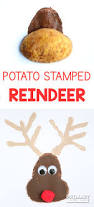 easy potato stamped reindeer craft primary theme park