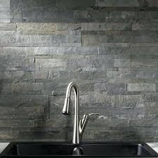 slate tile backsplash peel and stick stone tile backsplash kitchen slate tile peel and