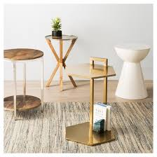 Rustic Accent Table Berwyn End Table Metal And Wood Rustic Brown Threshold Target