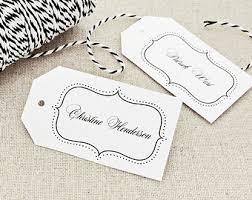 place card tag template medium black cutlery design wedding