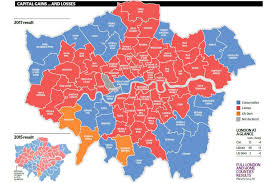 Map Election by London Election Results Map How The Capital Voted As Labour Makes