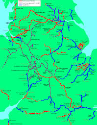 Wales England Map by Inland Waterways Of England U0026 Wales Map