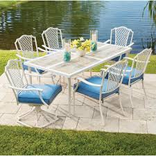 Patio Chairs With Cushions Hampton Bay Alveranda 7 Piece Metal Outdoor Dining Set With