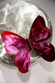 Ribbon Metal Wall Decor Wilmos Kovacs Abstract Metal Sculpture Rainbow Butterfly Wall