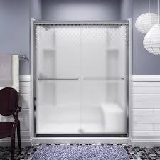 menards glass door sterling finesse frameless by pass shower door at menards