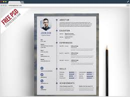 Awesome Resume Builder Creative Resume Template Download Free Psd File Free Download
