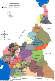 map of cameroon administrative map of cameroon