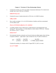 ap chemistry practice test chapter 4