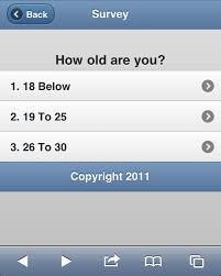 build a jquery mobile survey app app logic u0026 interface
