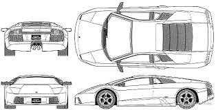 draw lamborghini murcielago the blueprints com blueprints cars lamborghini lamborghini