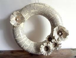 home decor made from recycled materials diy elegant wreaths made from recycled paper recycled things