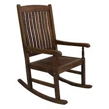 Real Wood Rocking Chairs International Caravan Highland Acacia Traditional Oak Stain Porch