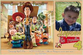 toy story personalized invitations toys model ideas