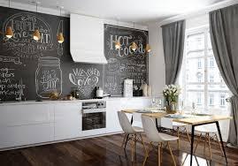 wandtafel küche das schwarze kreidebrett in der innenarchitektur gestaltung und