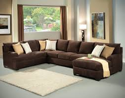 Black Microfiber Ottoman Couches Suede Sectional Couches Microsuede Suede Sectional