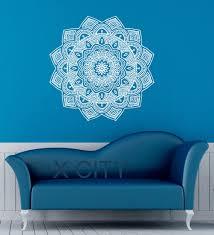 Om Wall Decal Mandala Vinyl by Aliexpress Com Buy Mandala Wall Decal Indian Lotus Flower