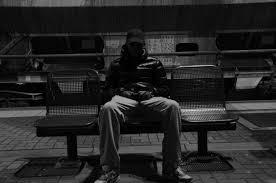 free images black and white bench street urban sitting