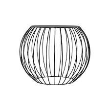 bout de canap noir table d appoint cage en métal peint noir achat vente bout de