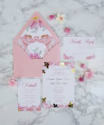 pink and gold wedding invitations blush pink gold foil wedding invitation bohemian mint