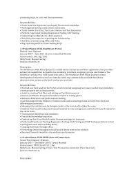Manual Tester Resume Manual Testing Resume Format Samples Resume Format