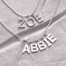 personalised sterling silver name charm necklace hurleyburley
