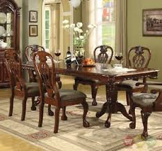 Cherry Wood Dining Room Set by Brussels Formal Dining Room 7 Piece Furniture Set Traditional Dark