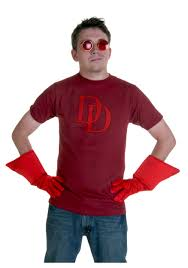 Red Shirt Halloween Costume Marvel Daredevil Costume T Shirt