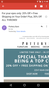 Pottery Barn Mobile Site John M Wargo Formatting Marketing Emails For Mobile Devices 2016
