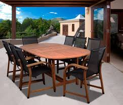 Jamie Durie Patio Furniture by Amazon Com Amazonia Bahamas 9 Piece Eucalyptus Oval Dining Set