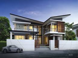modern bungalow house with 3d floor plans and firewall home