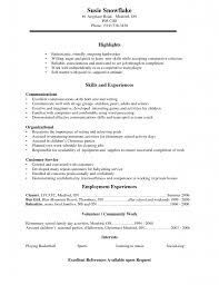 Sample College Resumes Resume Example by Sample College Resumes For High Seniors 13 Example Of
