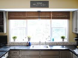 window treatments for kitchens a simple kitchen window upgrade jenna burger valances treatments