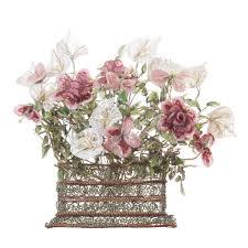 basket of flowers 20th century beaded basket of flowers fireside antiques