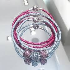 pandora leather bracelet pink images Add a splash of color to your collection with pandora 39 s leather jpg