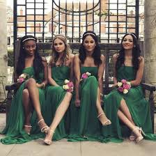 green bridesmaid dresses strapless emerald green bridesmaid dress with side slit flowing