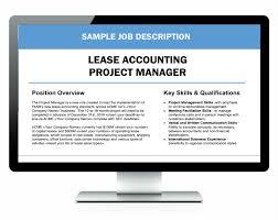 project manager job description deputy general manager job