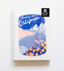 greetings from california risograph note cards 8 pack features
