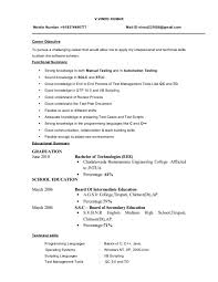 Qtp 2 Years Experience Resume Sle Resume For 2 Years Experience In Testing 28 Images Sle