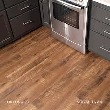 Vinyl Laminate Floor Mission Collection Nogal Java Cortona 20mil Waterproof Vinyl