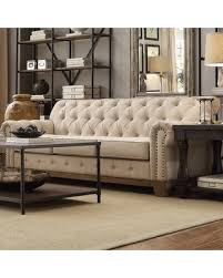 Chesterfield Sofa Linen Get This Amazing Shopping Deal On Greenwich Tufted Scroll Arm