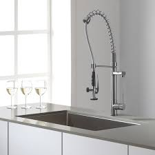 pre rinse kitchen faucets kraus commercial style single handle kitchen faucet with pull