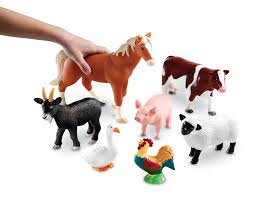 amazon com learning resources jumbo farm animals 7 pieces toys