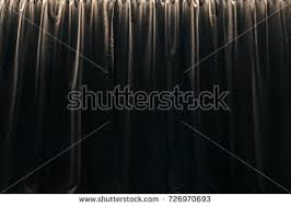 closed curtain black velvet curtains stock photo 726970693