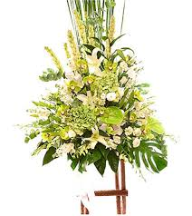 flower stand arrangement of cut flowers with stand